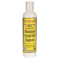 Шампунь с гималлайской солью, Himalayan Crystal Salt Shampoo, Swanson, 8.5 fl oz (250 мл) жидкий