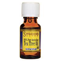 Масло чайного дерева, Tea Tree Oil, Swanson, 0.5 fl oz (15 мл) жидкий