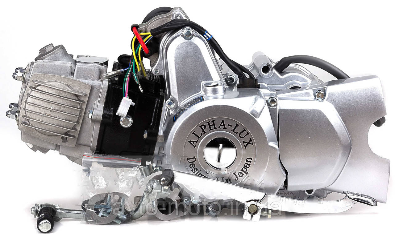Двигун Альфа-Люкс 110 см3 механіка + КАРБЮРАТОР