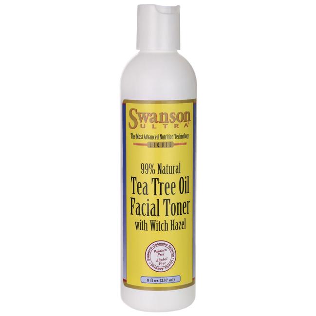 Tea Tree Oil Facial Toner with Witch Hazel, Swanson, 8 oz (237 мл) жидкий