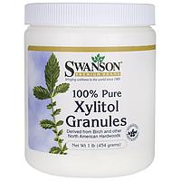Ксилитол в гранулах, 100% Pure Non-GMO Xylitol Granules, Swanson, 1 lb (454 грамм) Granules