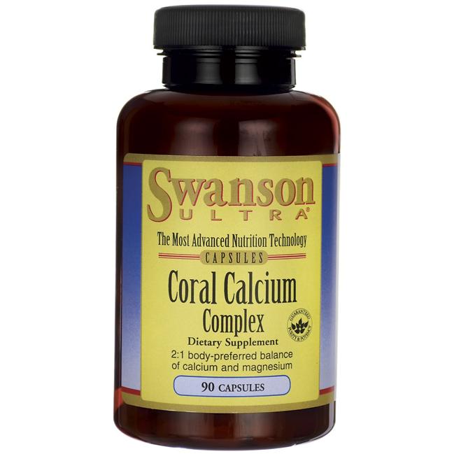 Коралловый кальций, Coral Calcium Complex, Swanson, 90 капсул