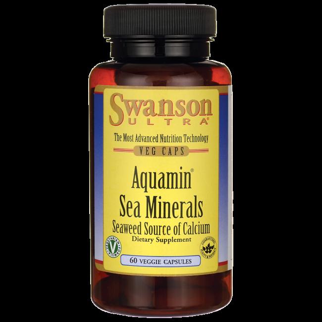 Aquamin Sea Minerals: Red Mineral Algae, Swanson, 60 капсул