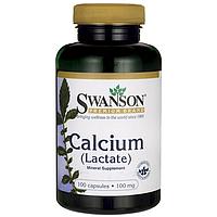 Calcium Lactate, Swanson, 100 мг, 100 капсул