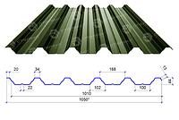 Сталекс Профнастил ПН-44 0,45 PEMA RAL 6020 Сировина Optima Steel