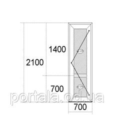 Балконные двери 2100мм х 700мм