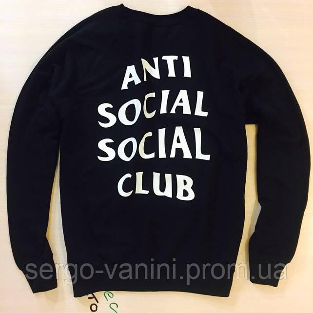 ASSC свитшот мужской • Бирка печать • Живые фотографии шмоток Anti Social Social Club