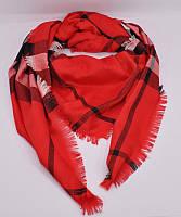 Кашемировая красная шаль, платок Burberry 7977-4