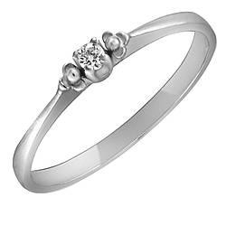 Кільце з срібла з куб. цирконіями 173341,