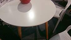 Обеденный стол в скандинавском стиле круглый нераскладной  DT-9017  Evrodim, цвет белый, фото 2