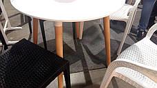 Обеденный стол в скандинавском стиле круглый нераскладной  DT-9017  Evrodim, цвет белый, фото 3