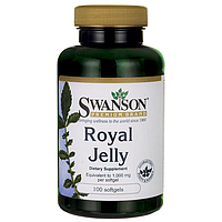 Royal Jelly, Swanson, Equivalent to 1.000 мг, 100 капсул
