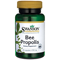 Пчелиный Прополис, Bee Propolis, Swanson, 550 мг, 60 капсул