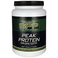 Peak Protein Non-GMO Very Vanilla Flavor, Swanson, 1 lb 12 oz (795 грамм) порошок