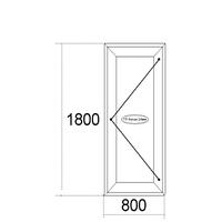 Входные двери 1800мм х 800мм