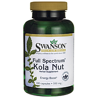 Full Spectrum Kola Nut, Swanson, 550 мг, 180 капсул