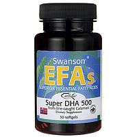 Super DHA 500 from Calamari, Swanson, 30 капсул