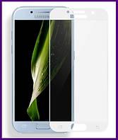 Защитное стекло 3D на весь экран для смартфона Защитное стекло Samsung A720 (A7-2017) (WHITE)