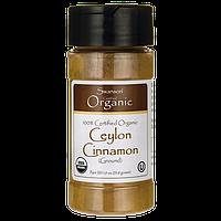 100% Certified Organic Ceylon Cinnamon, Swanson, 1.9 oz (53.8 грамм) порошок