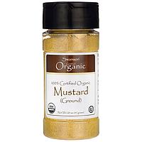 100% Certified Organic Mustard (Ground), Swanson, 1.65 oz (47 грамм) порошок
