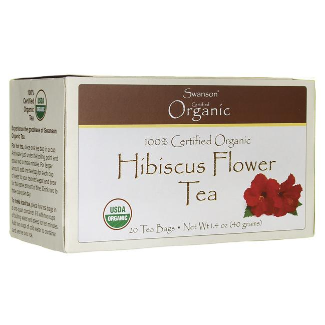 Hibiscus Flower Tea, Swanson, 20 Bag(s)