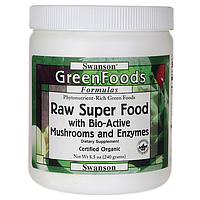 Certified Organic Raw Super Food, Swanson, 8.5 oz (240 грамм) порошок