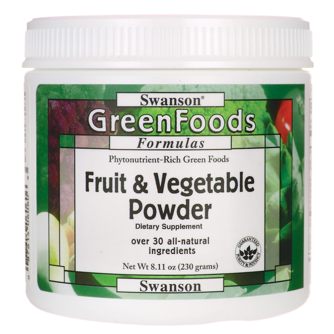 Fruit & Vegetable Powder, Swanson, 8.11 oz (230 грамм) порошок