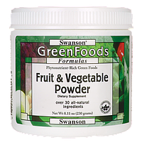 Fruit & Vegetable Powder, Swanson, 8.11 oz (230 грамм) порошок