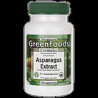 Экстракт Спаржы, Asparagus Extract, Swanson, 60 капсул