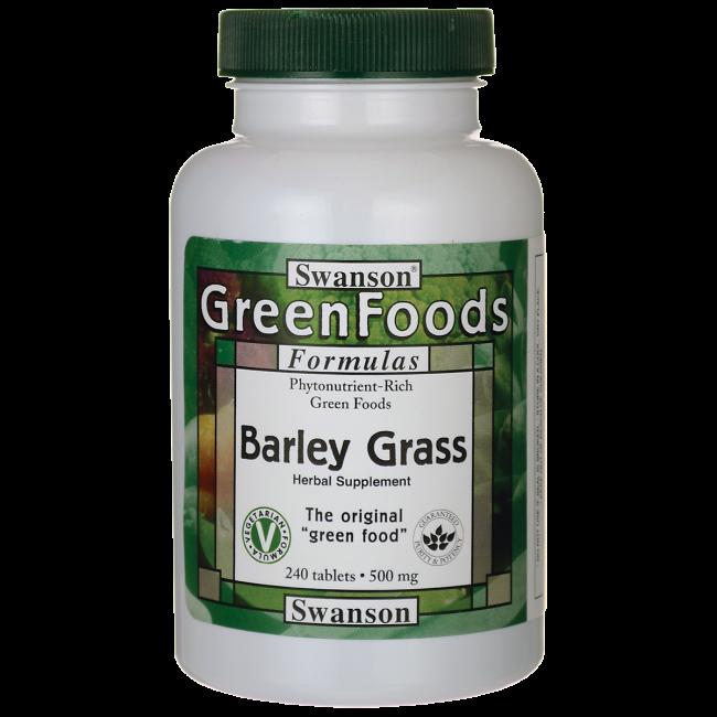 Barley Grass, Swanson, 500 мг, 240 таблеток