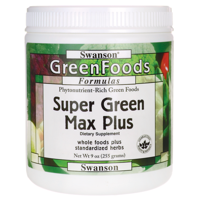 Super Green Max Plus, Swanson, 9 oz (255 грамм) порошок