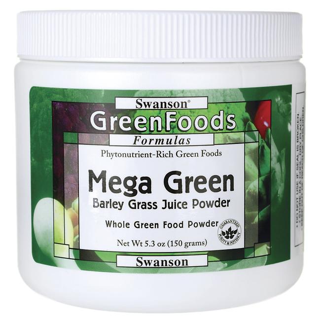 Mega Green (Barley Grass Powder), Swanson, 5.3 oz (150 грамм) порошок