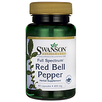 Full Spectrum Red Bell Pepper, Swanson, 400 мг, 60 капсул