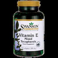 Витамин E, Vitamin E Mixed Tocopherols, Swanson, 400 IU 250 капсул