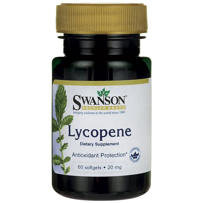 Ликопин, Lycopene, Swanson, 20 мг, 60 капсул