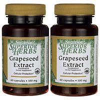 Экстракт Виноградных Косточек, Grapeseed Extract (Standardized), Swanson, 100 мг, 120 капсул