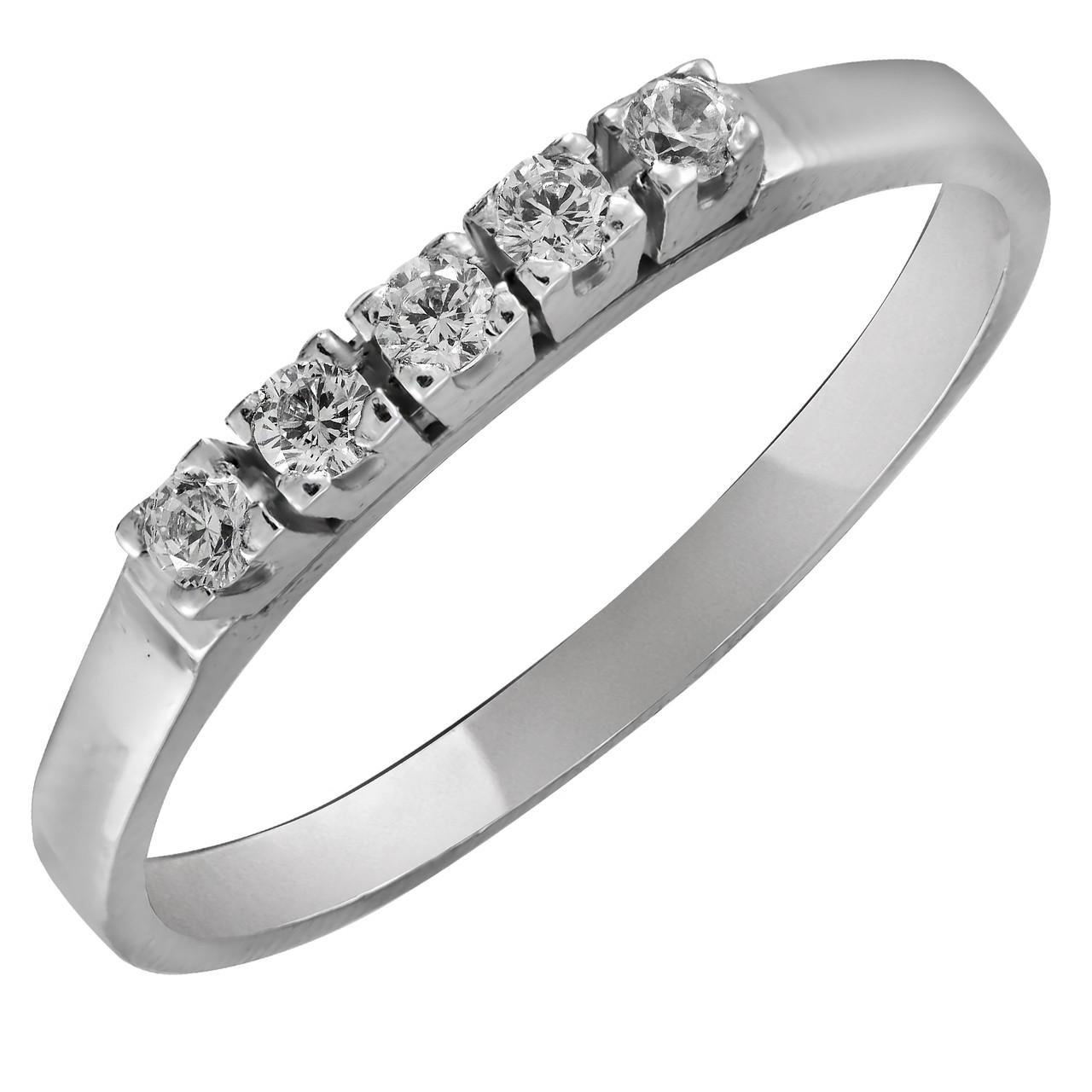Кольцо из серебра с куб. циркониями 173600,