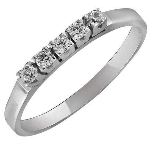 Кольцо из серебра с куб. циркониями 173600