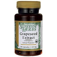 Экстракт Виноградных косточек, Grapeseed Extract (Standardized), Swanson, 100 мг, 60 капсул