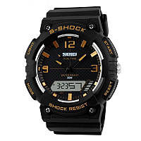 Мужские наручные часы Skmei S-Shock золотые