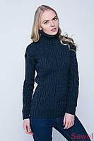 Женский вязаный теплый свитер