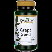 Экстракт Виноградных Косточек, Grape Seed, Swanson, 380 мг, 100 капсул