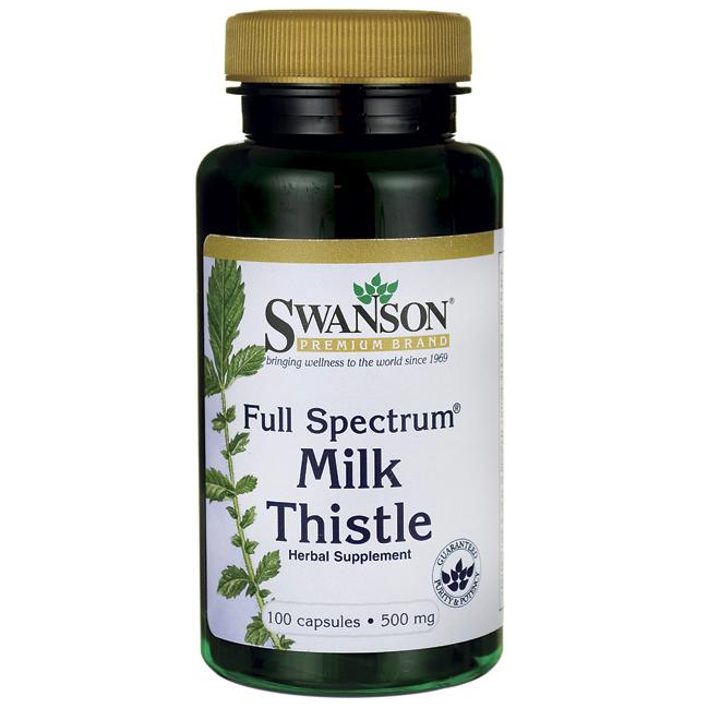 Full Spectrum Milk Thistle, Swanson, 500 мг, 100 капсул