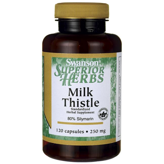 Экстракт Расторопши, Milk Thistle (Standardized), Swanson, 250 мг, 120 капсул