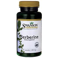Барбарис, Berberine, Swanson, 400 мг, 60 капсул