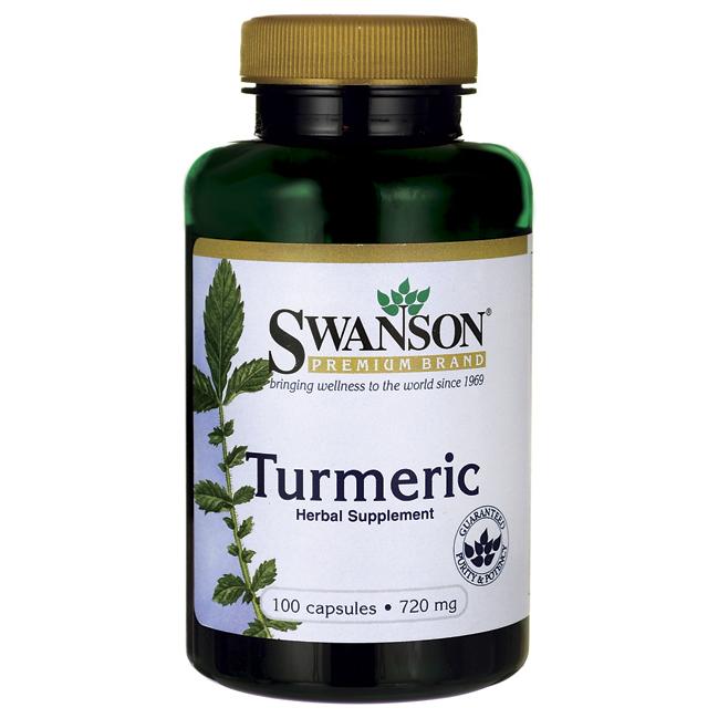 Куркума, Turmeric, Swanson, 720 мг, 100 капсул