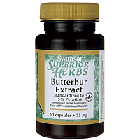 Butterbur Extract, Swanson, 75 мг, 60 капсул
