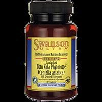 Готу Кола, Standardized Gotu Kola Phytosome, Swanson, 60 мг, 60 капсул