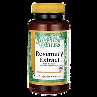 Экстракт Розмарина, Rosemary Extract, Swanson, 500 мг, 60 капсул