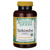 Йохимбе, Yohimbe (Standardized), Swanson, 500 мг, 120 капсул